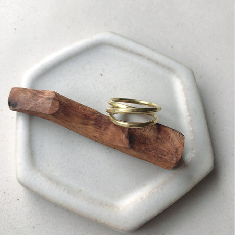 IRONO brass kurukuru Ring #9
