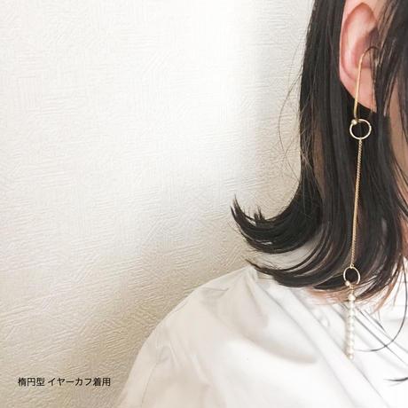 "CHIENOWAイヤリング ""ODANGO""・[シャンパンシルバー・ツヤ]"