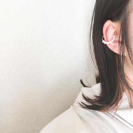 tubu イヤーカフ&リング [ホワイトピンク・マット]