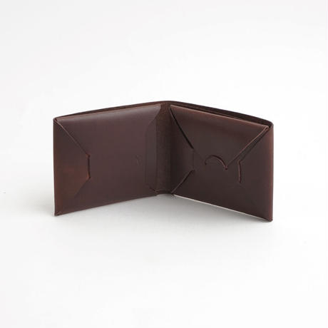 "SEAMLESS ""CLASSIC LEATHER"" SHORT WALLET  ( D.BROWN )"