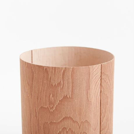 plywood leather trash basket