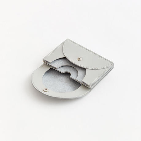 FOLD MINI WALLET ガラスレザー ( GRAY )
