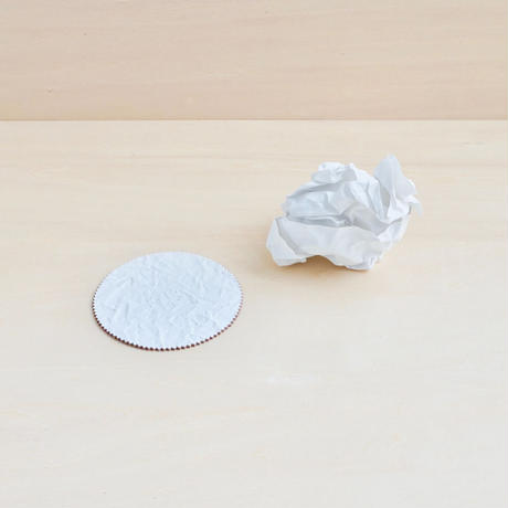"""WHITE PAPER""  LEATHER COASTER"