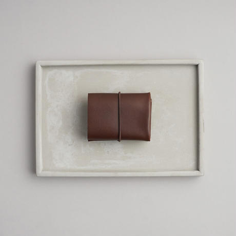 """SEAMLESS """"CLASSIC LEATHER"""" COMPACT WALLET  ( D.BROWN )"""