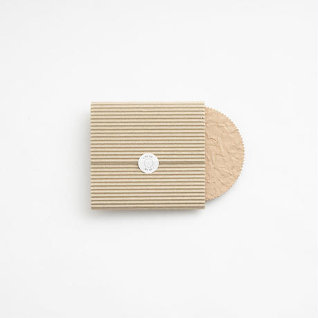 PAPER  LEATHER COASTER  ( L.BROWN )