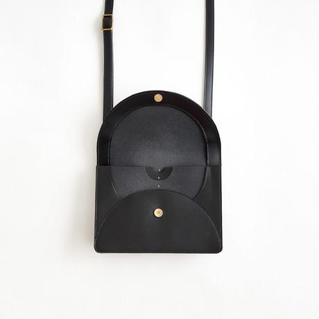 FOLD MINI SHOULDER BAG  (BLACK )