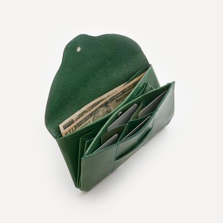 ric-rac long wallet / green