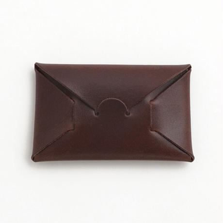 "SEAMLESS ""CLASSIC LEATHER"" CARD CASE  ( D.BROWN )"