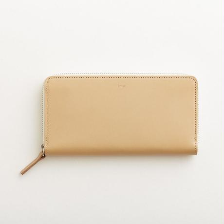 pop-up long wallet  (black / nude / yellow )