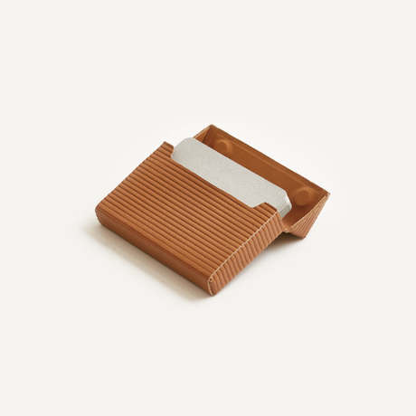 cardboard box card case   (l.brown / gray / black)
