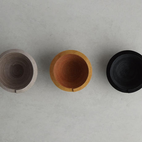"""""""STACK"""" LEATHER BOWL ( 3colors )"""
