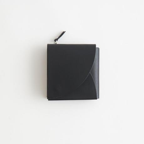 FOLD SHORT WALLET ( BLACK / D.BROWN / PALE BLUE )