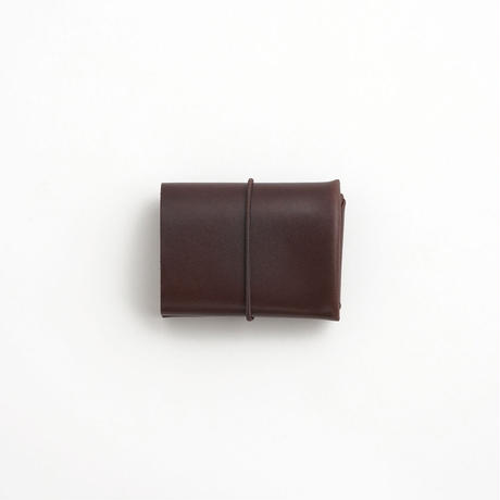 "SEAMLESS ""CLASSIC LEATHER"" COMPACT WALLET  ( D.BROWN )"