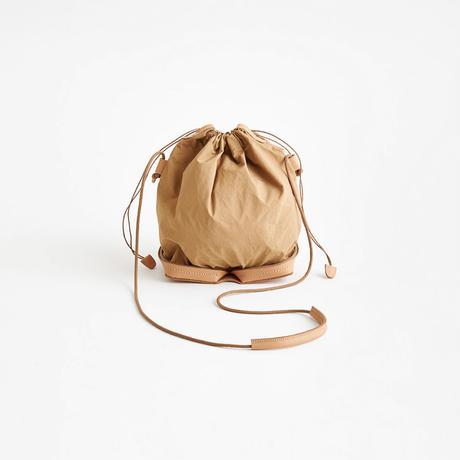 POCKETABLE MINI SHOULDER BAG  (BLACK / BEIGE)