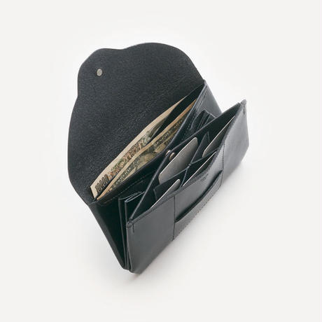 ric-rac long wallet / black