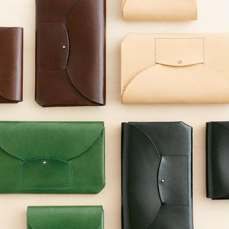 ric-rac long wallet / nude
