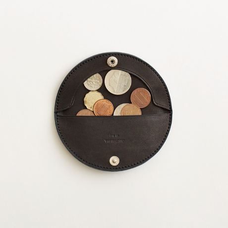 protractor coin case( nude / black)