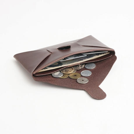"""SEAMLESS """"CLASSIC LEATHER"""" LONG WALLET  ( D.BROWN )"""