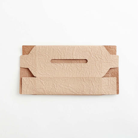 paper leather tissue box case(nude / white)