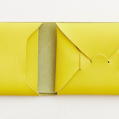 seamless short wallet / yellow