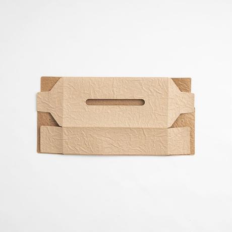 PAPER LEATHER TISSUE BOX CASE  ( L.BROWN )