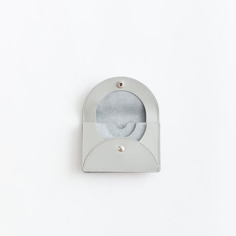FOLD MINI WALLET ガラスレザー( GRAY )