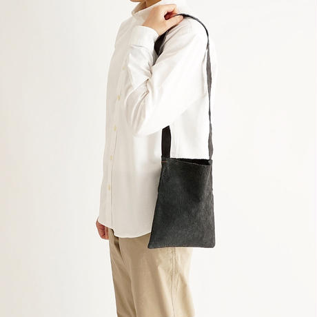 paper shoulder bag S size (black / gray / l.brown)