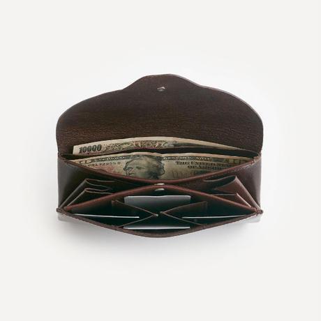 ric-rac long wallet / brown