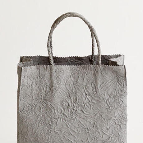 PAPER LETHER SMALL BAG (black / gray / l.brown)