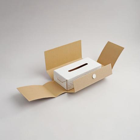 """WHITE PAPER"" leather tissue box case"