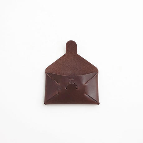 """SEAMLESS """"CLASSIC LEATHER"""" CARD CASE  ( D.BROWN )"""