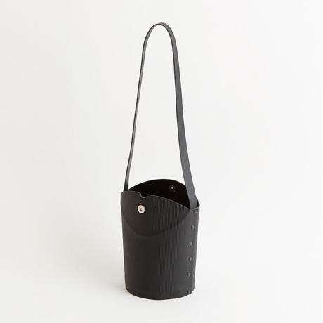 CARDBOARD TUBE SHOULDER BAG  ( L.BROWN / GRAY / BLACK)