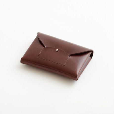 ric-rac card case / brown