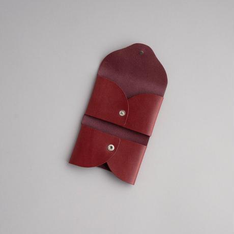 RIC-RAC CARD CASE  ( BURGUNDY )
