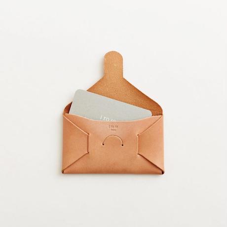 seamless card case / nude