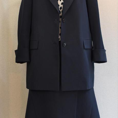 No.1912025 フルダルスパン サイドフレアラップスカート Made in Japan