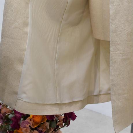 No.2009042 リネンウールロングJK Made in Japan