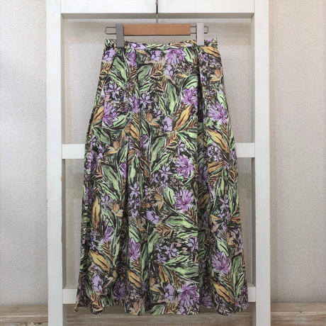 No.2105067 フレンチコットンプリントスカート Made in Japan