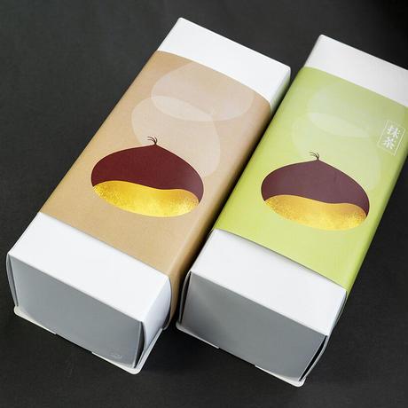 栗の渋皮煮入りロールケーキ(2本)のセット(冷凍発送)