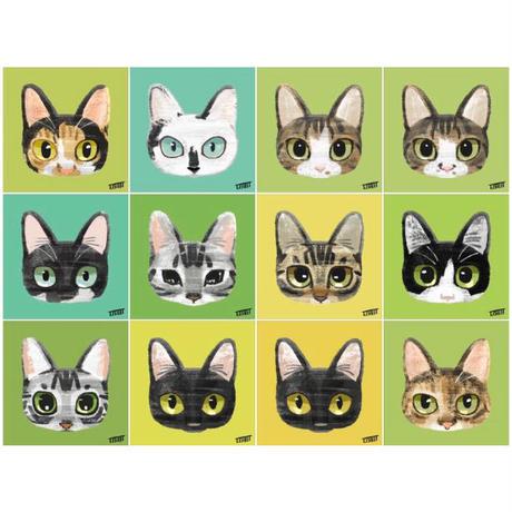 ネコのイラスト【3匹同時購入割引】