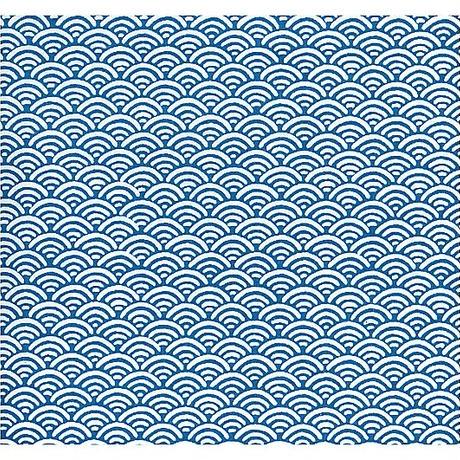 青海波柄1130-Y377青海波青  美濃和紙友禅染紙(手染め美濃和紙)