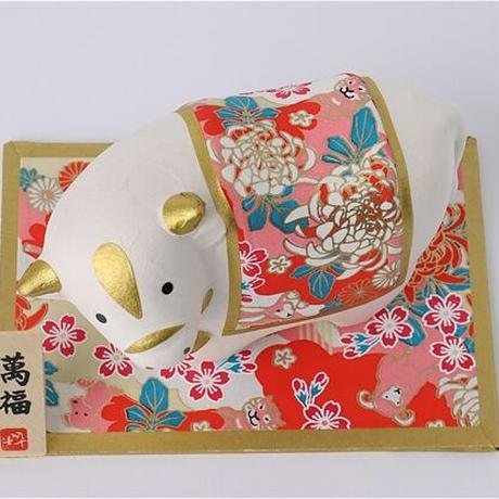 【送料無料】干支丑和紙貼寿(父) 21093