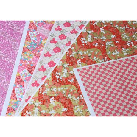 赤柄1130-2020-71  美濃和紙友禅染紙(手染め美濃和紙)