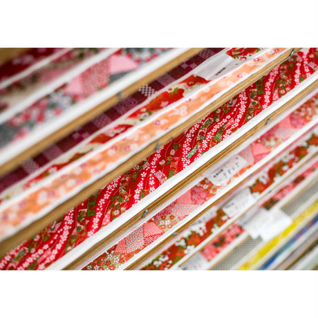 【もみしわ 厚み加工】赤柄1306-7760 美濃和紙友禅染紙(手染め美濃和紙)