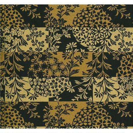 金柄1130-10038  美濃和紙友禅染紙(手染め美濃和紙)