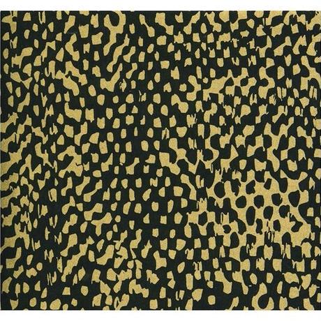 【もみしわ 厚み加工】黒「koku」ドットゴールド柄61491  美濃和紙友禅染紙(手染め美濃和紙)