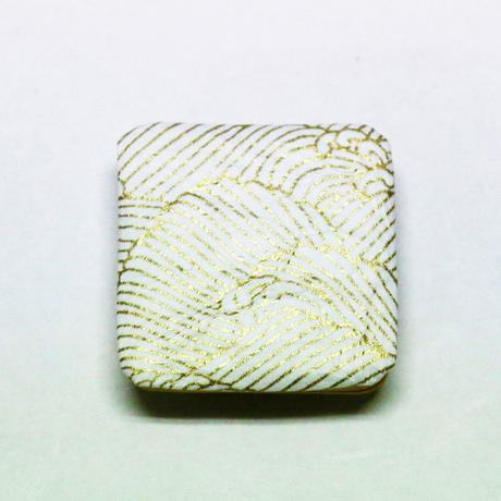 和紙マグネット(角) 白 <shira> 「波」