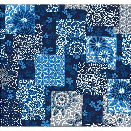 藍柄1130-7104  美濃和紙友禅染紙(手染め美濃和紙)