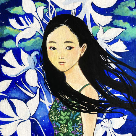原画 Imposing flower 凛と咲く花