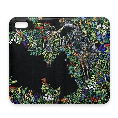 オオカミの森iPhoneケース(手帳型)※7Plus/8Plus XS/X/XR